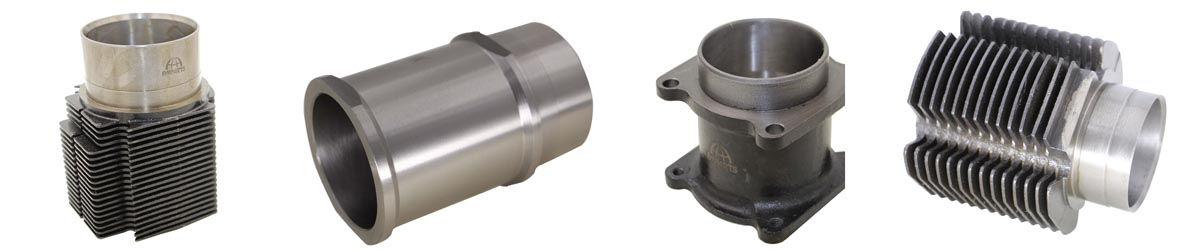 Air cooled cylinder liner