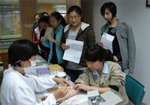 Staff physical examination.Good healthy is a prerequisite for hard work